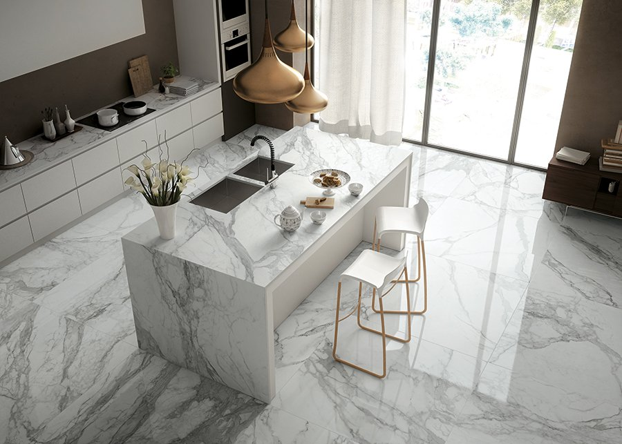 Why is a marble effect the best fit for your interior?
